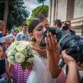 SPOSA CON IL CANE AL MATRIMONIO