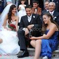 FOTO DI FAMIGLIA CON IL CANE LA COLLINETTA ROMA CHIESA S. Martino ai Monti