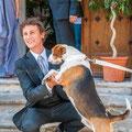 Sposarsi con il cane portato dalla dogsitter per matrimoni