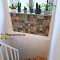 Bunter Fliesenspiegel mit unseren Mexikanischen Fliesen 11x11 cm