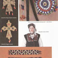 Srebrni križ, filigran (Kraljeva Sutjeska) / Srebrni križ, filigran (Travnik) / Ukras za lice od raznobojnog staklenog zrnja - cmilje (Rama) / Djevojačka nošnja iz Rame / Narukvice pletene od staklenog zrnja (Kraljeva Sutjeska)