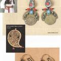 Djevojačko oglavlje - fes iz okolice Travnika / Srebrne minđuše (Livno) / Srebrni medaljon, filigran s pozlatom (Travnik) / Srebrne minđuše - karičice (Mostar)