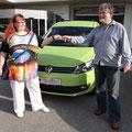Das blühende Leben bei der Autoübergabe im Oktober 2012 (10 Wochen vor der Krebsdiagnose)