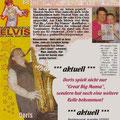 """Bericht über Casting 2002 """"Elvis, die Show-sein Leben"""""""