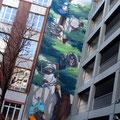 Tree of Society Graffiti Frankfurt Germany streetphoto by Mary Kwizness