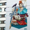 The Curiosity by Rookie The Weird Bockenheim Graffiti Frankfurt Germany streetphoto by Mary Kwizness