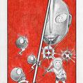 「リトルピープルごっこ(ウルトラマンとか仮面ライダーとは遊んだことがないけれど)」2011.8.5