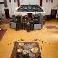 オープンスペースなレコーディング・スタジオ。生きたパフォーマンス、生きたサウンドが感動を呼ぶ。