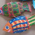 Suspension poisson en papier mâché