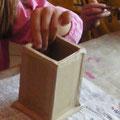 Pot a crayons en carton