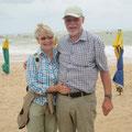Monika und Erich Misterek am Strand von Salvador de Bahia