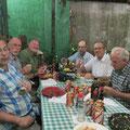Abendessen mit Bischof Dom Edson und Padre Bruno