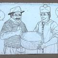 [463] ERICA SALMASO Peppone e Don Camillo In forma - in parmigiano (1B.  Gruppo Nardi)