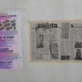 Poster e pagina di giornale sui mattoni a fumetti per Lucca Comics
