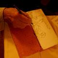 Gallieno Ferri usa il mattone di Castelli come base di appoggio