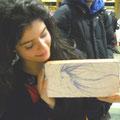 Maria Chiara Ligis dice qualcosa al suo mattone