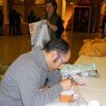 Otello Roscioni, che ha incontrato il Bonfa la sera prima, torna a trovarci e inizia a disegnare un mattone