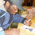 Il simpatico Arnaldo Makanju chiede di poter disegnare un mattone