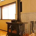 神奈川県鎌倉市薪ストーブ設置例 バーモントキャスティングス ディファイアント 炉台:大谷石