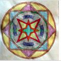 Mandala colorato a mano