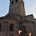 L'église et son escalier pour accéder aux cloches ! Il fallait monter avec une échelle !