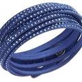 Lässiges Lederarmband mit Swarovski-Kristallen Slake Bracelet in Azzurblau um € 69,- von Swarovski.
