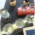 Teelichter vergolden mit Schwabacher Blattgold
