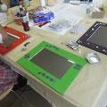 Ancolé-Kindergeburtstag Spiegel mit Mosaikarbeiten