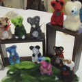 Ancolé-Kindergeburtstag gefilzte Mäuse