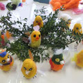 Ancolé-Kindergeburtstag Lustige Birdies filzen