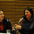 Deborah Feldman im Gespräch mit Linda Rachel Sabiers im Haus der Bildung. (c) Lilian Szokody