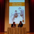 """Torsten Körner im Gespräch mit Michael Kloft über """"Die Familie Willy Brandt"""" © Literaturhaus Bonn"""