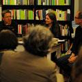 """Norbert Hummelt und Marion Poschmann lesen aus """"Stadtlandfluss"""" in der Buchhandlung Böttger © Lilian Szokody"""