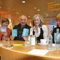 Kristina Wydra, Michael Klevenhaus, Barbara Weidle und Heidemarie Schumacher vom Literaturhaus Bonn, 2011