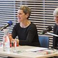 """Büchner-Preisträgerin Felicitas Hoppe sprach mit Sabine Sielke über Amerika und ihr neues Buch """"Prawda. Eine amerikanische Reise"""". Foto: Thilo Beu"""