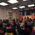 """Feridun Zaimoglu sprach mit Judith Merchant in der Katholischen Familienbildungsstätte über """"Die Geschichte der Frau"""". (c) Literaturhaus Bonn"""