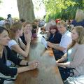 Jo Lendle mit den Workshopteilnehmern © Literaturhaus Bonn