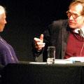 Sigrid Damm spricht mit David Eisermann © David Eisermann