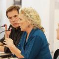 Jennifer Clement im Gespräch mit David Eisermann © Meike Böschemeyer