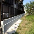 新たに積み直し、基礎部分もモルタルで仕上げ、きれいになりました