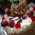 シルエットミッキーショートケーキ