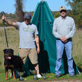 Luthor with owner Eric Thomas & ADRK Working Judge Thomas Weber
