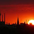 Düsseldorf_Blick aus Süden zum Rheinturm