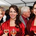 die zukünftigen Weinmajestäten beim Empfang