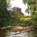 """Liquid Raft"", oak, 2,2 x 2,2 m, Red House Moritzburg, 2015"