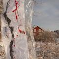 Liquid Flag, paper, plastic foil, color, Finland, 2018