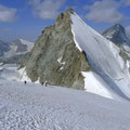 Nordflanke Obergabelhorn und Abstieg linke Begrenzung