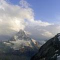 Ausblick vom Aarbenbiwak aufs Matterhorn