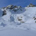 Aufstieg für Abfahrtsvariante durchs Val Cassinello