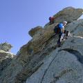 die letzten Meter zum Gipfel des Zinalrothorns